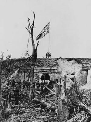 WW2 begins: Nazis Raising Flag Over Danzig 1939