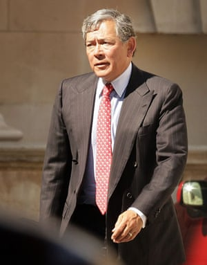 Bankers one year on: Lloyds TSB chief executive Eric Daniels leaves the Treasury in July 2009