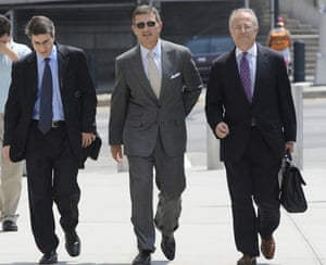 Bankers one year on: Former Bear Stearns hedge fund manager Ralph Cioffi, centre