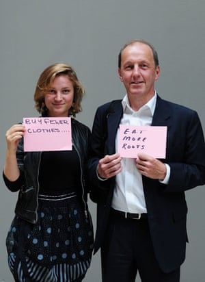 10:10 launch pledges: Alice Brewer and Chris Goodall hold their 10:10 pledge