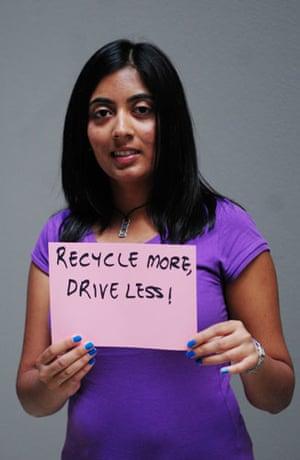 10:10 launch pledges: Dipti Hurani holds her 10:10 pledge