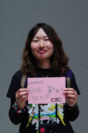 10:10 launch pledges: Nanako Takeuchi holds her 10:10 pledge