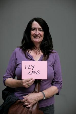 10:10 launch pledges: Cathy Trevelyn holds her 10:10 pledge