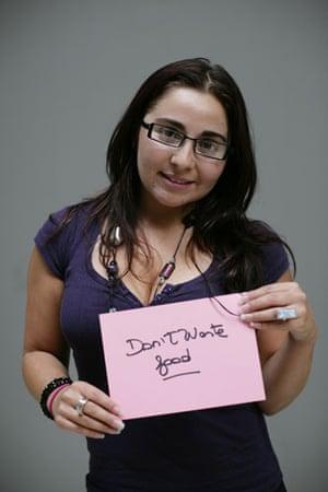 10:10 launch pledges: Cristel Guajardo holds her 10:10 pledge