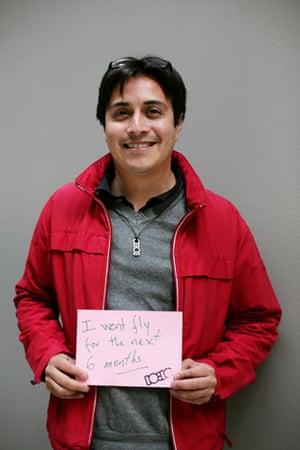10:10 launch pledges: Pablo Mendoza holds his 10:10 pledge