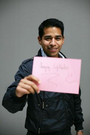 10:10 launch pledges: Andres Jimenez holds his 10:10 pledge