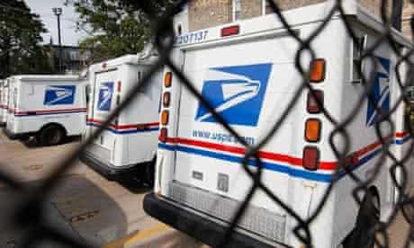 US Postal Service trucks