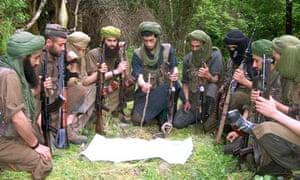 Al-Qaida propaganda photograph showing explosives training in Algeria