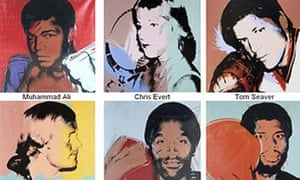 Andy Warhol sports paintings that have been stolen