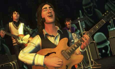 Still image from The Beatles: Rock Band computer game
