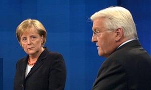 Angela Merkel and Frank-Walter Steinmeier in Berlin