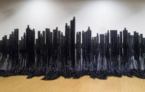 Tel Aviv Biennial 2009: Mounir Fatmi's Skyline (2007)