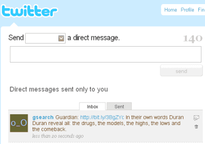Open Platform: Twitter Mobile Search