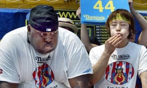 Hot Dog Eating Contest At Coney Island