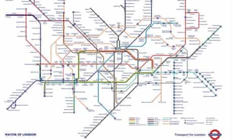 New map of the London Underground.