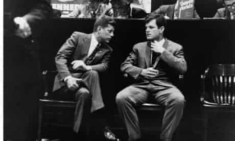 John F Kennedy and Ted Kennedy, West Virginia, 1960