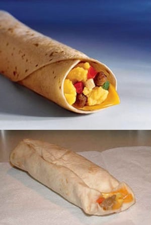 Advertising v reality: McDonald's sausage burrito