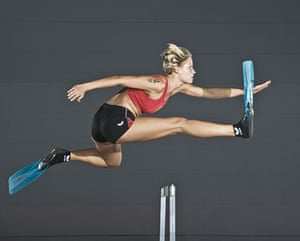 Guinness World Records: Guinness World Records The fastest 100 metre hurdles wearing swim fins