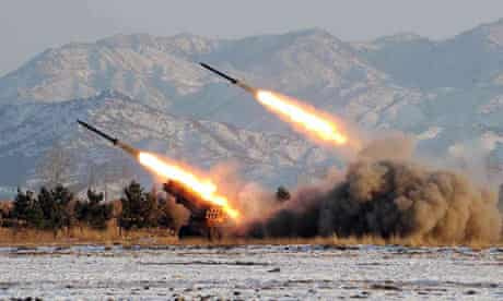 A firing drill by the Artillery Command of the Korean People in North Korea, 2009
