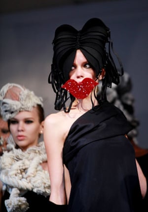 Headonist Milliners: The catwalk show for Headonism, Emerging London Milliners at Somerset House