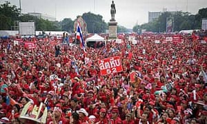 Supporters of Thaksin Shinawatra rally in Bangkok, Thailand, three years after he was ousted