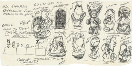 Jeff Koons: Concept drawing for Statuary