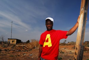 Chiawelo in Soweto: France Mokoena worked on the film District 9 as a general builder.