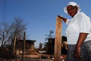 Chiawelo in Soweto: Matilde Isaacs in Chiawelo where her shack still stands
