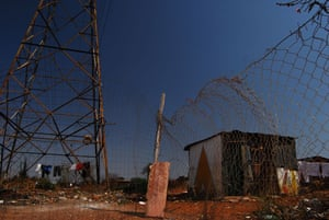 Chiawelo in Soweto: Real shacks and power lines were featured in the film District 9