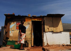 Chiawelo in Soweto: Gloria Baloyi lives in Chiawelo in conditions like those in District 9