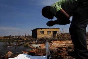 Chiawelo in Soweto: Moses Malinga uses the community's only access to drinking water