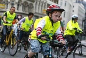 London's Skyride: A boy participates in the Skyride