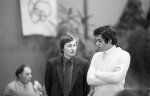 Kasparov v Karpov: World chess champion Anatoly Karpov left and Garry Kasparov in 1982