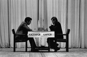 Kasparov v Karpov: Chess Champions Garry Kasparov and Anatoliy Karpov 1985