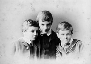 P G Wodehouse: Three Wodehouse brothers, Armine, Peverill and Plum ( PG) , late 1880s