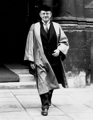 P G Wodehouse: P.G. Wodehouse during degree day at Oxford University. 21st June 1939