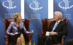 Climate Week in New York: Danish Minister for Climate and Energy Hedegaard meets Bill Clinton
