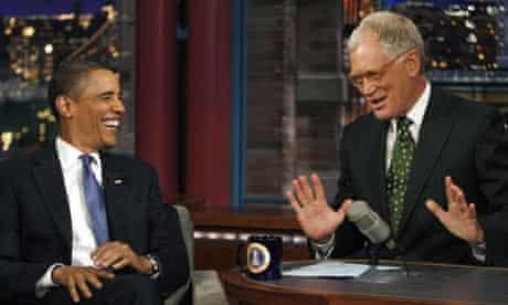 U.S. President Obama appears on the David Letterman Show in New York
