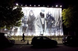 The Burberry Show: The exterior of the Burberry fashion show venue