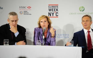 New york climate week:  opening ceremony Tony Blair Danish Minister Connie Hedegaard