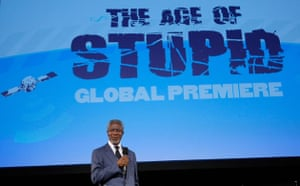 New york climate week: Age Of Stupid Eco Premiere  Kofi Annan