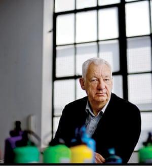 Michael Craig-Martin in his studio in 2009