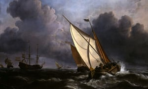 A Rising Gale by Willem Van de Velde the Younger