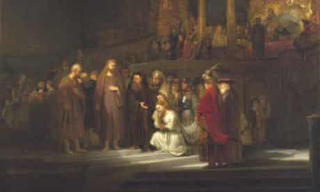 Rembrandt's Christ and the Woman Taken in Adultery
