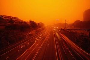 Sydney dust storm: The Bradfield Freeway