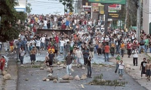 Protests in Honduras after Zelaya's return