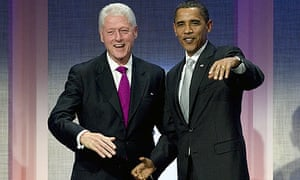 Bill Clinton with Barack Obama at the annual meeting of the Clinton Global Initiative.