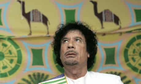 Muammar Gaddafi in his tent in Kiev