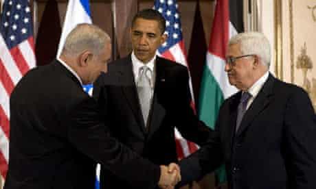 Barack Obama Benjamin Netanyahu Mahmoud Abbas