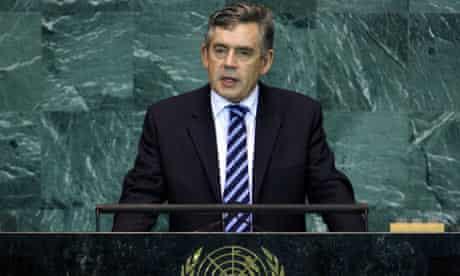 Gordon Brown addresses the UN general sssembly